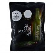 UKBrew STOUT - 1.6kg Home Brew Beer Kit 23L Beer Making Kit
