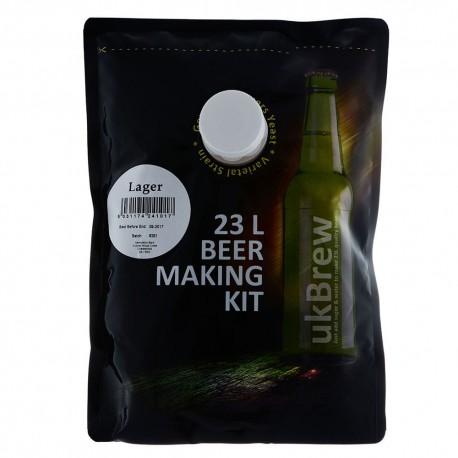 UKBrew Lager - 1.6kg Home Brew Beer Kit 23L Beer Making Kit