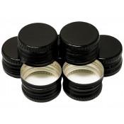 Black Screw Cap 28mm