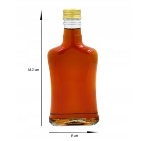 Butelka 200ml Plaska-wklęsła