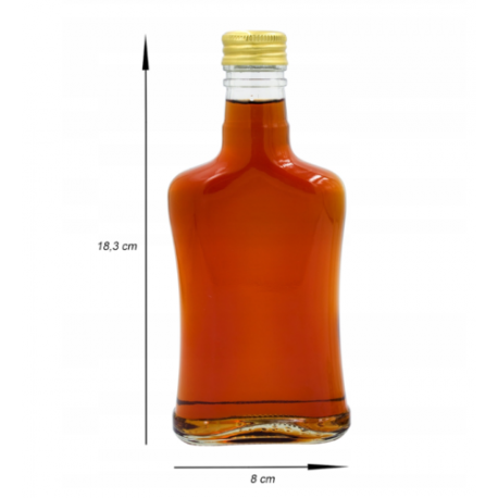 Glass Bottle 200ml Concave + Scrw Cap