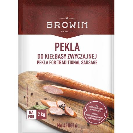 Pekla Saletra z mieszanka ziół i przypraw do kiełbasy zwyczajnej BBE 02/21