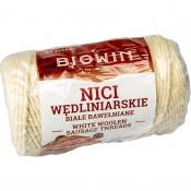 Nici wędliniarskie bawełniane białe 100g - 240°C