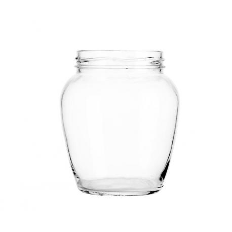 210 ml glass jar with nut