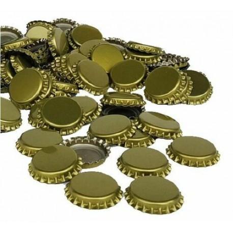 Gold Bottle crown caps 26mm x 100