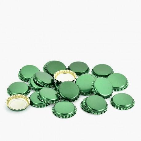 Dark Green Bottle crown caps 26mm x 100