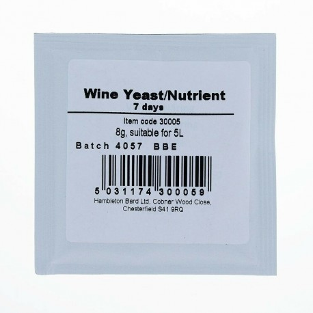 Bulldog Wine Yeast for 25l
