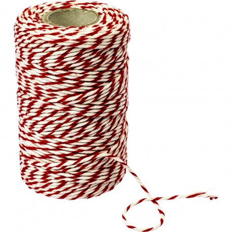 Red-white cotton twine/string for meat tying (240°C) 55 m 310205