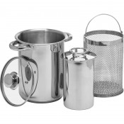 Multifunctional Pot with Basket & Ham Maker Stainless Steel 313515
