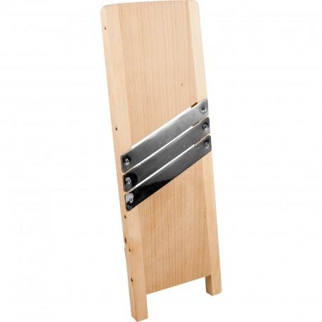 Wooden vegetables shredder 45x15cm  3 blades