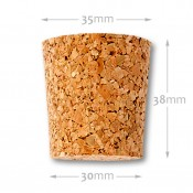 Natural tapered cork 30/35 mm , agglomerate 652700