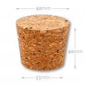 Natural tapered cork 33/40 mm , agglomerate 652800