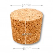 Natural tapered cork  43/ 50 mm , agglomerate 653000