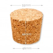Natural tapered cork  46/55 mm , agglomerate 653100