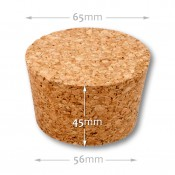 Natural tapered cork 56/65 mm