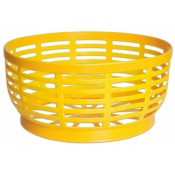 Plastic Basket base for 5 L demijohn - storage- organiser - (yellow)