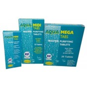 Water Purification Treatment Tablets AQUA CLEAN Midi