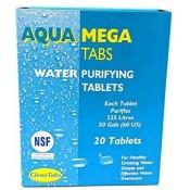Water Purification Treatment Tablets AQUA CLEAN - MEGA