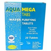 Water Purification Treatment Tablets AQUA CLEAN - MEGA