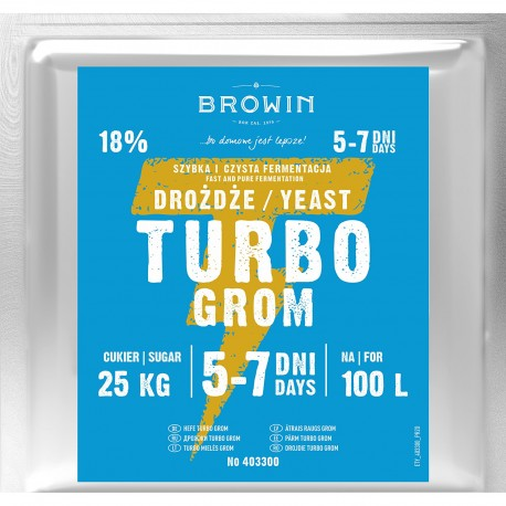 Browin Turbo Grom Yeast 100l 403300