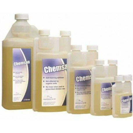 ChemSan Self Foaming No Rinse Sanitiser Cleaner 1 l