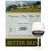 Better Brew - Shiraz / Merlot  - 6 bottles wine kit