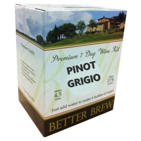Better Brew - PINOT GRIGIO - WHITE - 6 bottles wine kit