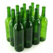 24 x  Zielone Butelki na wino 75cl (750ml)