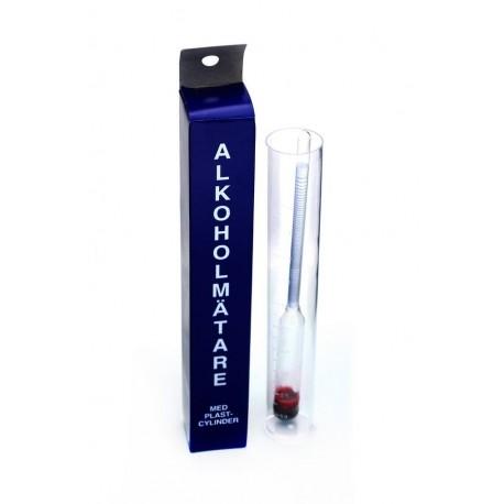 Hydrometer Plastic Jar 0-100%