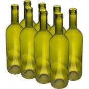 24 x  Olive Wine bottles Glass  75cl (750ml)