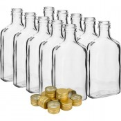 10 x Butelka 200ml z zakretkami