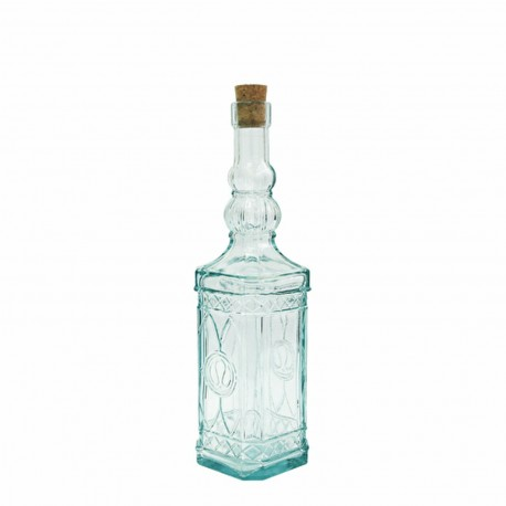 0.5 l  Tower glass bottle with cork