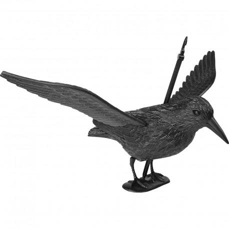 "Bird scarer / repeller / deterrent ""Raven taking the wing"""", natural size"