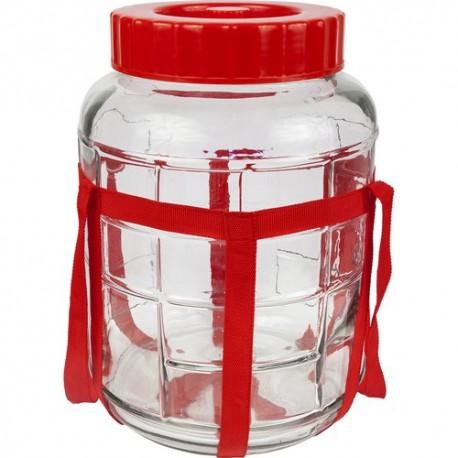 5l Glass Jar with Plastic Cap