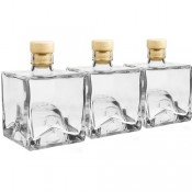 Glass Bottles SET OF 3  x 250ml with cork