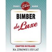 Samoprzylepna etykieta na butelkę: Bimber de Luxe