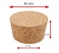 Natural tapered cork 85/75 mm
