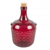 Ozdobny galon szklany, 4 L - Malinowy