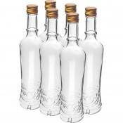 6 x 500 ml  Bottles + Caps  - Golden Ear Of Wheat  - 631514