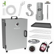Automatic electric smoker with thermostat  and smoke generator EU-PLUG
