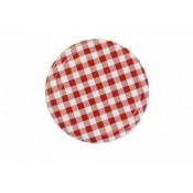 Twist off lid Ø 66mm - 4 hooks - Red Checkered