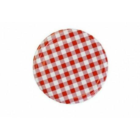 Twist off lid Ø66mm - 4 hooks - Red Checkered