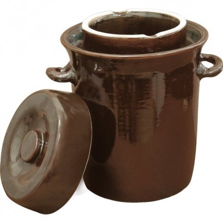 10l Stoneware crock pot with water seal and lid