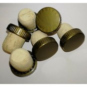 25 x Homebrew Plastic Topped Corks Reusable