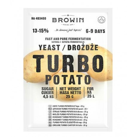 Turbo Yeast Potato for 25L - 25g