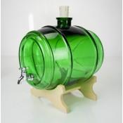 3.8l zielona szklana beczka