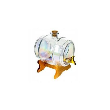 3.8l teczowa szklana beczka