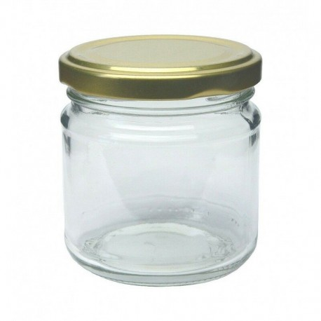 210 ml glass jar with nut