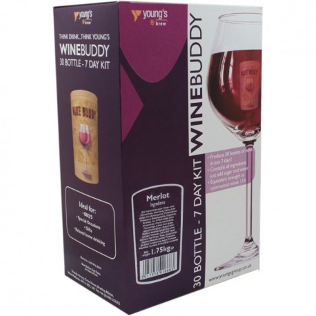 30 Bottle Wino Merlot WineBuddy