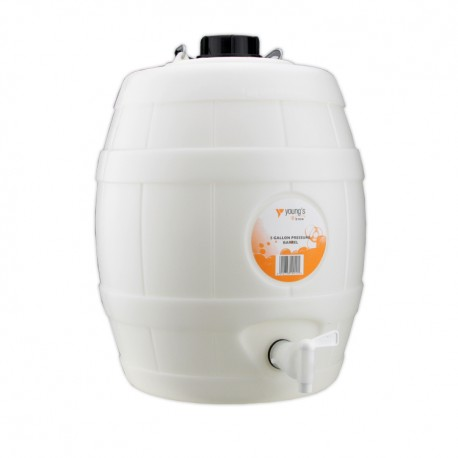 5 Gal Basic White Barrel with Vent Cap